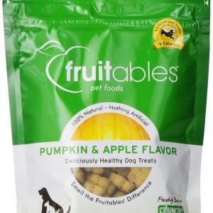 Fruitables Crunchy Dog Treats - Pumpkin & Apple - Made in America