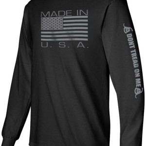 Gadsden & Culpeper Made in USA Longsleeve T-Shirt (Black)