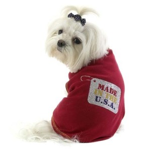 Sparkle Made in USA Dog T-Shirt