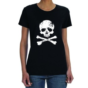 Women's Skull and Crossbones T-Shirt