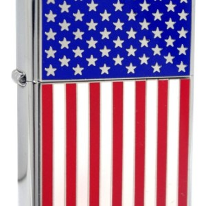 Zippo Chrome American Flag Lighter