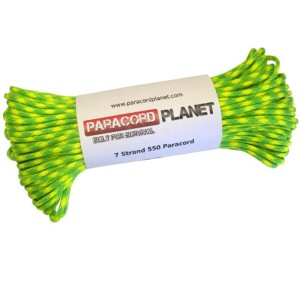 Paracord Planet 550 lb, 100' Foot Hank, Dayglow Parachute Cord American Made