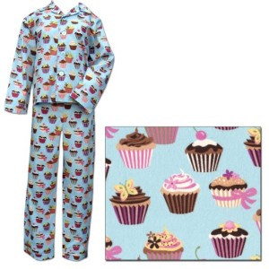 "The Cat's Pajamas Cupcake Women's Cotton Pajama as seen on ""30 Rock"" American Made"