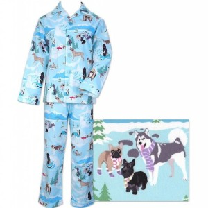 The Cat's Pajamas Snow Dogs Women's Cotton Flannel Pajama Made in America