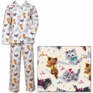 The Cat's Pajamas Vintage Kittens Women's Cotton Pajama American Made