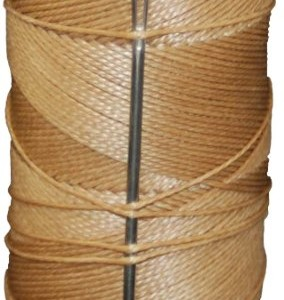 T.W . Evans Cordage 11411 2-Ounce Wax Sail Kit with Needle, Brown American Made