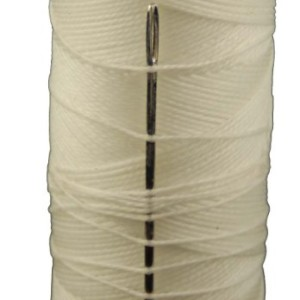 American Made T.W . Evans Cordage 11417 2-Ounce Wax Sail Kit with Needle, White