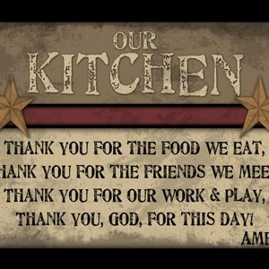 Rustic Primitive Wood Sign - Kitchen- Made in America
