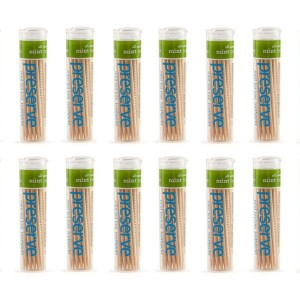 Preserve 2101CS Mint Tea Tree Canister Toothpicks American Made