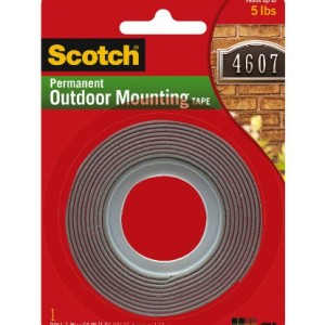 Scotch Exterior Mounting Tape, 1-Inch by 60-Inch Made in America