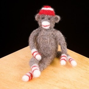 Sock Monkey Wool Craft Kit American Made