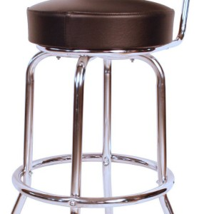 Heavy Duty Swivel Bar Stool with Back American Made