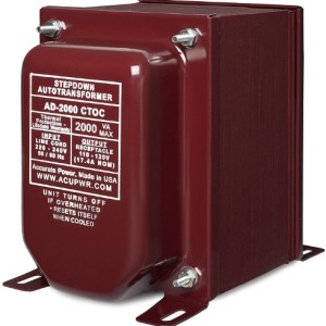 ACUPWR (TM) AD-2000 Watt High End Step Down Transformer - 110V to 220V - Lifetime Warranty Made in USA