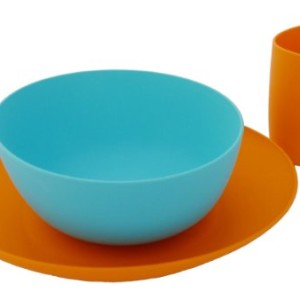 Bpa-free Fantastic Dishes Set Orange/turquoise American Made