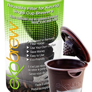 Ekobrew Cup, Refillable Cup for Keurig K-cup Brewers, Brown, 1-Count Made in America
