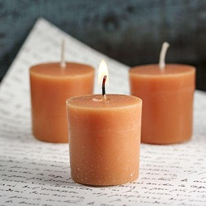 Package of 24 Made in the USA Pumpkin Pie Soy Votive Candles for Home Decor