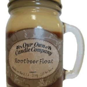 13oz ROOT BEER FLOAT Scented Jar Candle (Our Own Candle Company Brand) Made in America