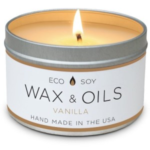 Scented Candles (Vanilla) Soy Candle Wax & Oils - 8oz - Hand Made in America