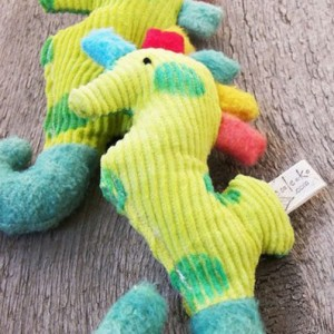 Organic Jingle Me Seahorse Rattle & Teething Toy - Handcrafted in America!