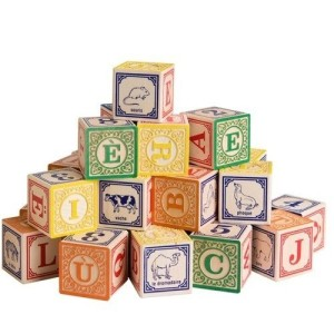 Uncle Goose French Alphabet Wooden Blocks - Made in America