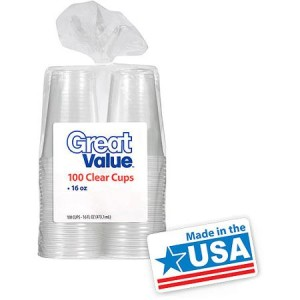 Great Value Clear Cups - Made in America
