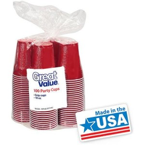Great Value Party 18 Oz Cups - Made in America