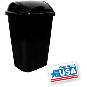 Hefty Swing-Lid 13.5-Gallon Trash Can - Made in America