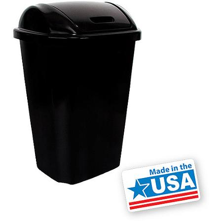 Hefty Swing Lid 13 5 Gallon Trash Can Black Buy Usa