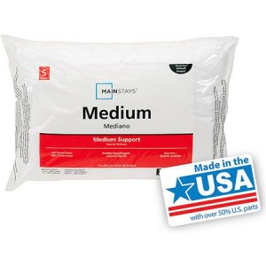 Mainstays Medium Pillows, Set of 2 - Made in America