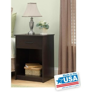 Mainstays Nightstand/End Table, Multiple Colors - American Made