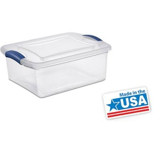 Sterilite 3.75-Gallon (15-Quart) Latch Box, Set of 10 - Made in America