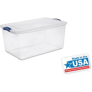Sterilite 66 Quart Latch Box- Blue Eclipse, Set of 6 - American Made