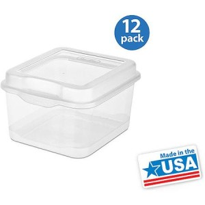 Sterilite Flip Lid Box, Set of 12 - Made in America