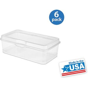 Sterilite Large Flip Lid Box, Set of 6 - Made in America