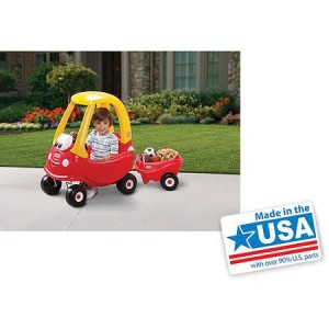Little Tikes Cozy Coupe 30th Anniversary with Cozy Coupe Trailer - American Made