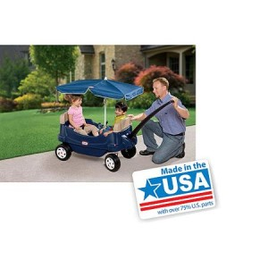 Little Tikes Cozy Cruisin' Wagon with Umbrella - American Made