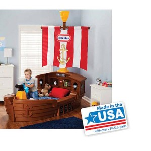 Little Tikes Pirate Ship Toddler Bed - Made in America