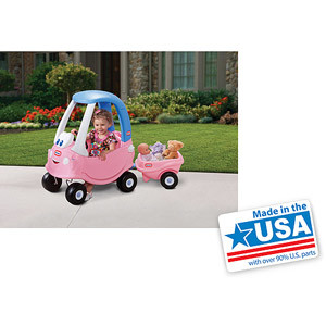 Little Tikes Princess Cozy Coupe Trailer - Made in America