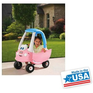 Little Tikes Princess Cozy Coupe Ride-On, Light Pink - Made in America