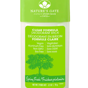 Nature's Gate Clear Formula Deodorant Stick Spring Fresh -- 2.5 oz - Made in the USA