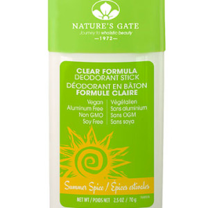 Nature's Gate Clear Formula Deodorant Stick Summer Spice -- 2.5 oz - USA Made