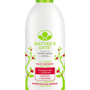Nature's Gate Hair Defense Shampoo Pomegranate Sunflower -- 18 fl oz - Made in America