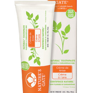 Nature's Gate Natural Toothpaste Crème de Anise - USA Made