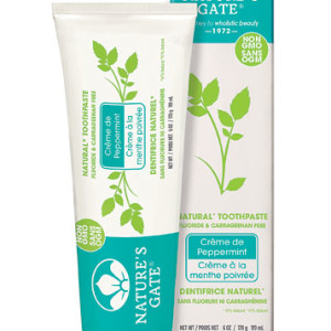 Nature's Gate Natural Toothpaste Fluoride Free Crème De Peppermint - Made in the USA