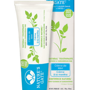 Nature's Gate Natural Toothpaste Fluoride Free Creme De Mint - American Made