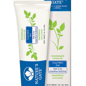 Nature's Gate Natural Toothpaste Gel Flouride Free Cool Mint - Made in the USA