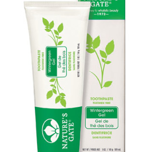 Nature's Gate Natural Toothpaste Gel Flouride Free Wintergreen -- 5 oz - USA Made